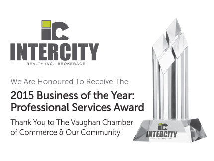 VAUGHAN CHAMBER OF COMMERCE AWARD